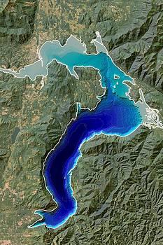 Lake Pend Oreille Map, Idaho by Ian Grasshoff