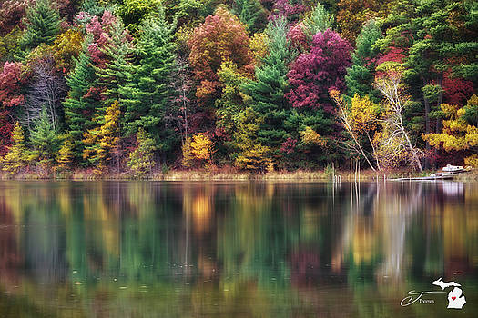 Lake Reflections by J Thomas