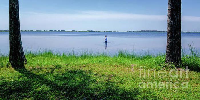 Kathleen K Parker - Lake Shelby Fishing Morning