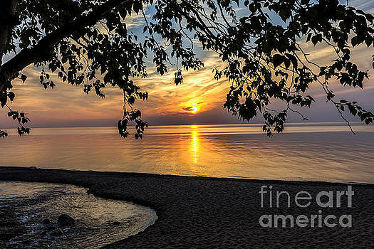 Lake Superior and the Setting Sun by Amie Lucas