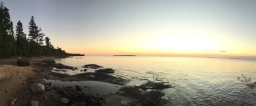 Lake Superior Evening Sky by Paula Brown