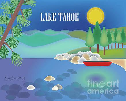 Lake Tahoe Horizontal Scene by Karen Young
