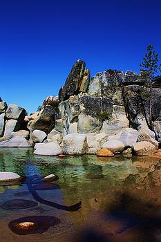 Lake Tahoe- Pyramid of rocks by Russell  Barton