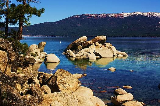 Lake Tahoe Rocky Shore No. 2 by Russell  Barton