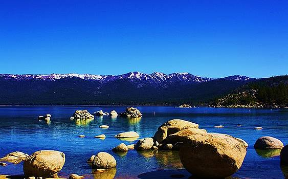 Lake Tahoe Rocky Shores  by Russell  Barton