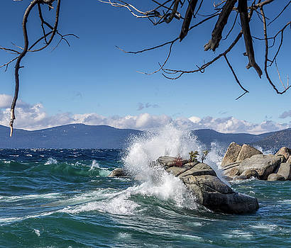 Lake Tahoe Storm Waves by Martin Gollery