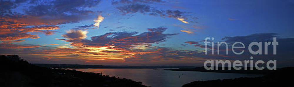Herronstock Prints - Lake Travis Sunset Paradise Panoramic Photo