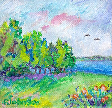 Peggy Johnson - Lake View - Miniature Painting
