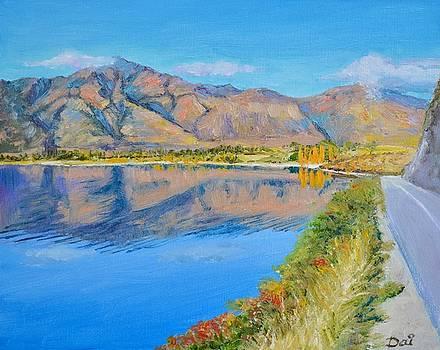 Lake Wanaka Morning Reflections by Dai Wynn