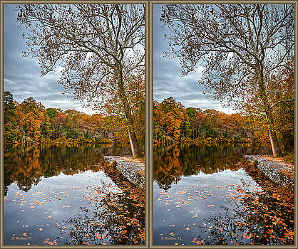 Lake Waterford In Fall - 3D Xview by Brian Wallace