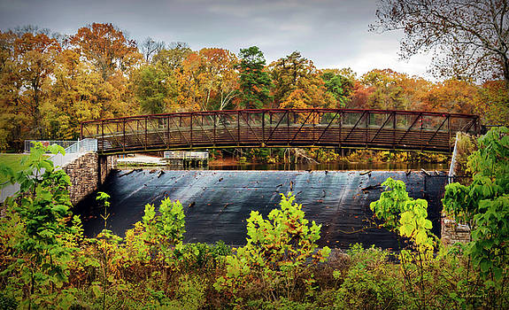 Lake Waterford Walk-Bridge In Fall by Brian Wallace