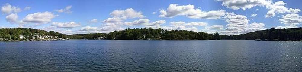 Lake Winola Pa panorama I by Daniel Henning
