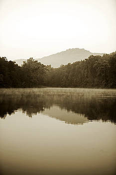 Lake With Forest And Hills Reflected by Gillham Studios