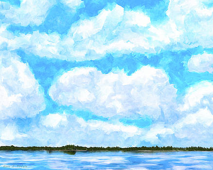 Lakeside Blue - Georgia Abstract Landscape by Mark Tisdale