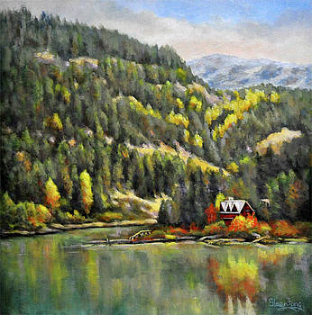 Lakeside in Autumn by Eileen  Fong