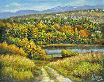 Lakeside Trail in Autumn by Eileen  Fong