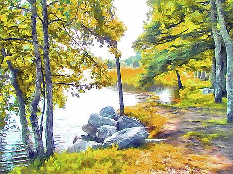 Lakeside Tranquility by Bishopston Fine Art