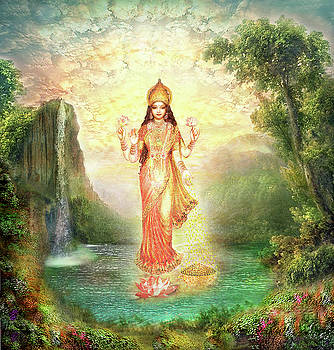 Lakshmi with the Waterfall 2 by Ananda Vdovic