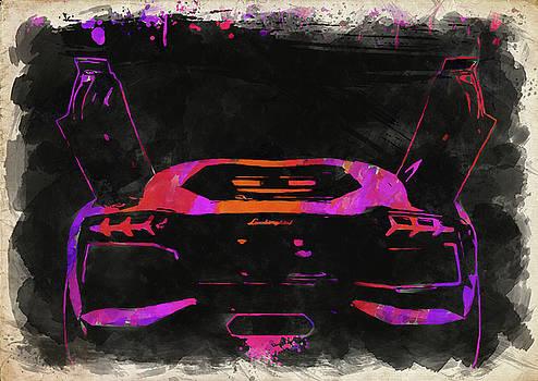 Ricky Barnard - Lamborghini Aventador Watercolor II