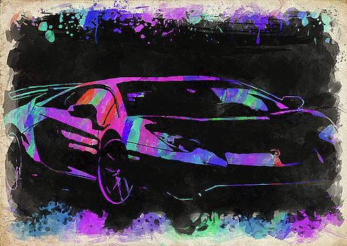 Ricky Barnard - Lamborghini Aventador Watercolor