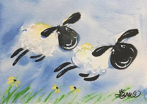 Lambs a Leapin by Terri Einer