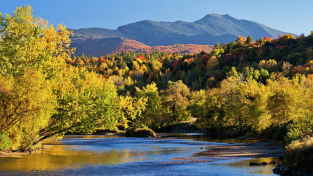 Lamoille River Autumn View by Alan L Graham