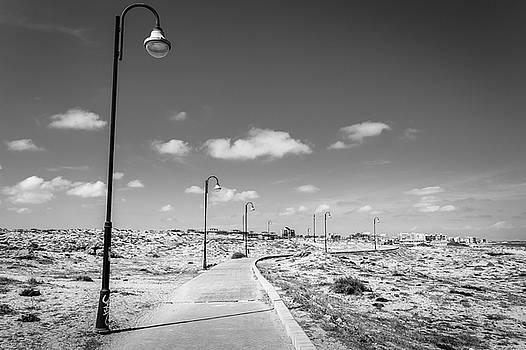 Lamplit Walkway by Gary Gillette