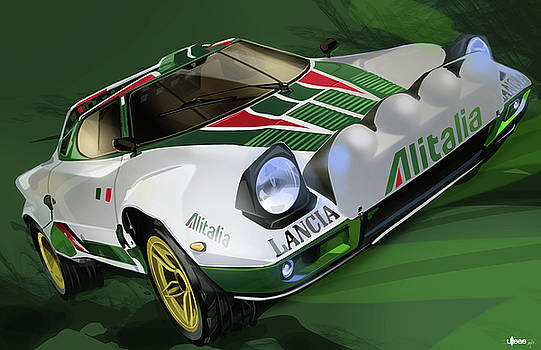 Lancia Stratos HF Rally Car by Uli Gonzalez