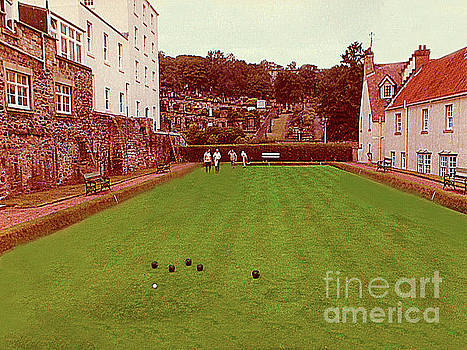 Land Bowling in Edinburgh, Scotland. by Merton Allen