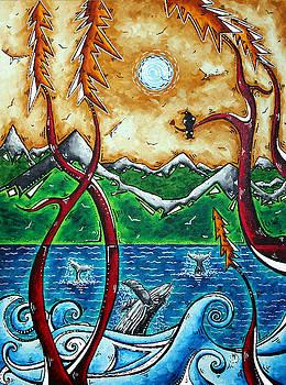 LAND OF THE FREE Original MADART Painting by Megan Duncanson