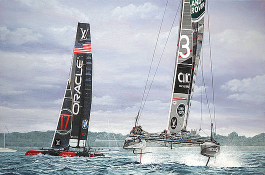 Land Rover BAR and Oracle Team USA Louis Vuitton America's Cup World Series, Portsmouth 2016 by Mark Woollacott