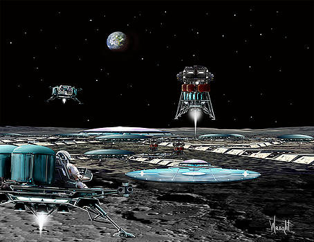 Landing at Aristarchus City by Bill Wright