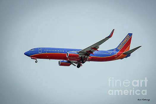 Reid Callaway - Landing At Los Angeles Southwest Jet N8318F Airplane Art