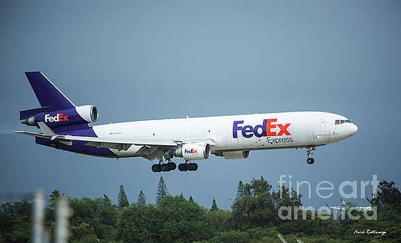 Reid Callaway - Steady Landing In Honolulu Fed Ex Airplane N603FE Art