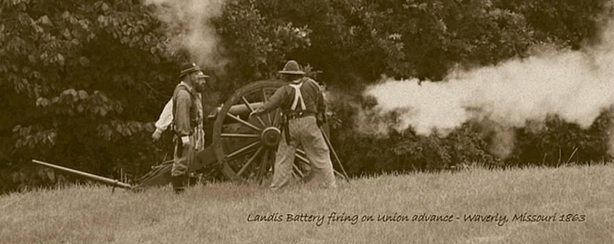 David Dunham - Landis Battery Firing On Union Advance