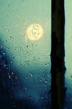 Landlocked Blues - Rain on Window by Dylan Murphy