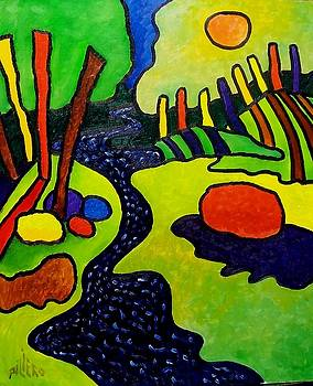 Landscape Expressionism A 29 by Nick Piliero