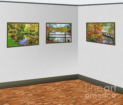 Landscape images in the art gallery by Viktor Birkus