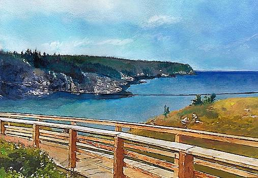 landscape in Grand Manan, Canada by Bakke and Schweizer Paintings