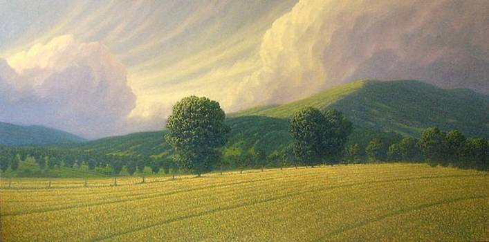 Landscape in Green and Golds by Richard Herman