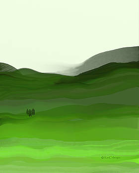Landscape in Green by Kae Cheatham