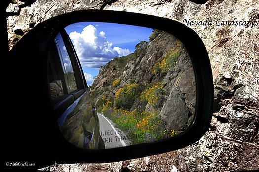 Landscape in Rear View Mirror by Nabila Khanam