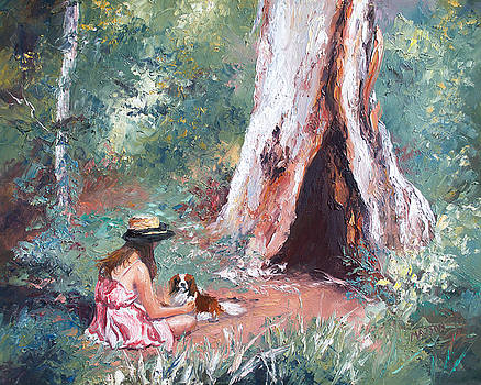 Jan Matson - Landscape Painting - By the Hollow Tree