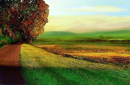 Landscape painting of  Berkshire Farmland by John Townes