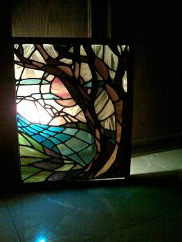 landscape- Stained glass by Reem Derbala
