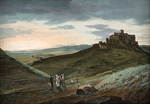 Landscape with a Spis castle, Jan Jakub Muller, ca 1807 by Vintage Printery