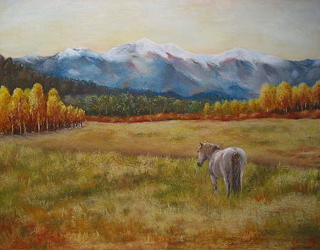 Landscape with Horse by Sabina Haas