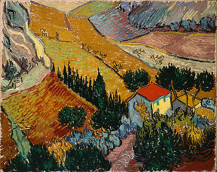 Landscape With House And Ploughman by Van Gogh
