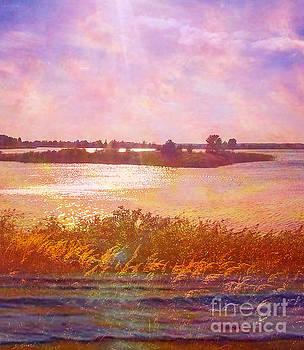 Landscape with island 008 01 01 2016 by Algirdas Lukas