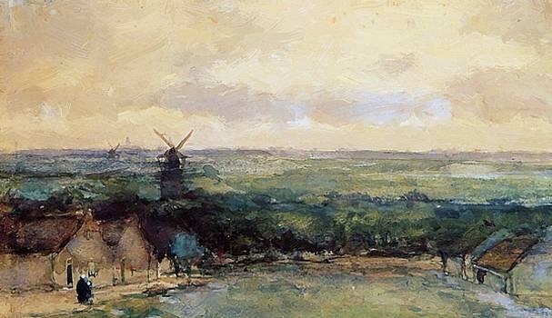 Weissenbruch Johan Hendrik - Landscape With Mills